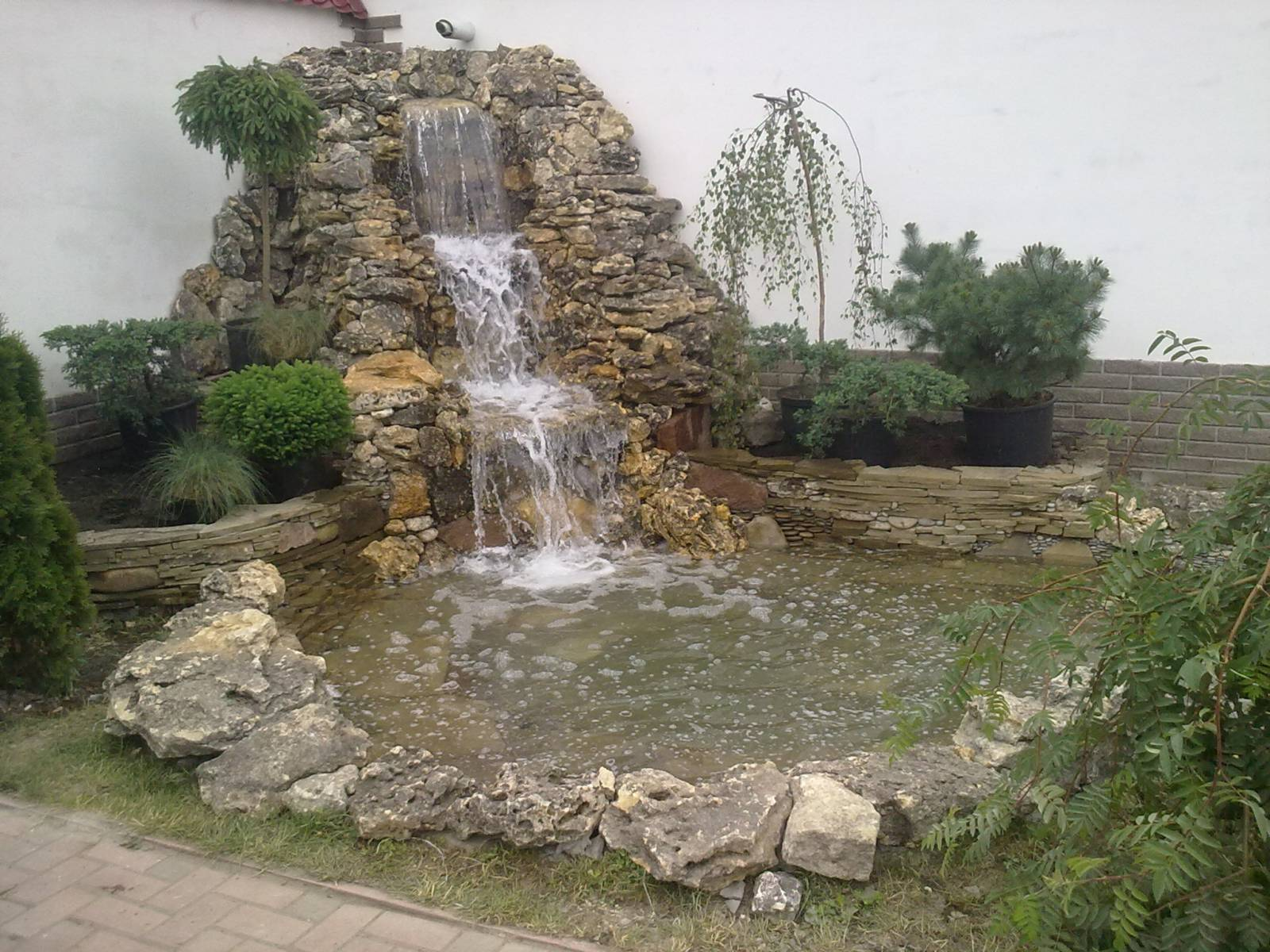 Ландшафтный дизайн водопады своими руками фото